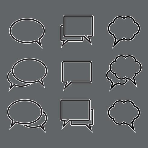 Vektor uppsättning talbubbla linjära ikoner