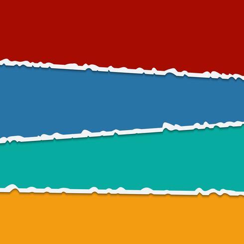 Bakgrund av vektor färgglada rivna pappersbanderoller med plats för text