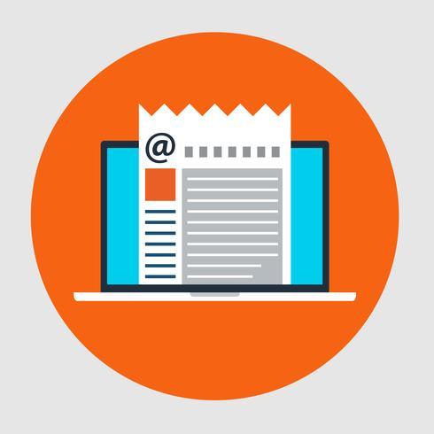 Plattformsikon för Email Marketing-konceptet vektor