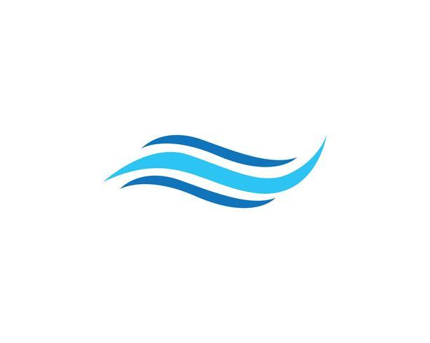Wellenwasser Logo Strand blau vektor