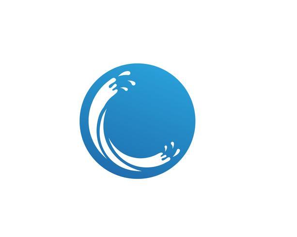 Spritzwasser blau Natur Logo vektor