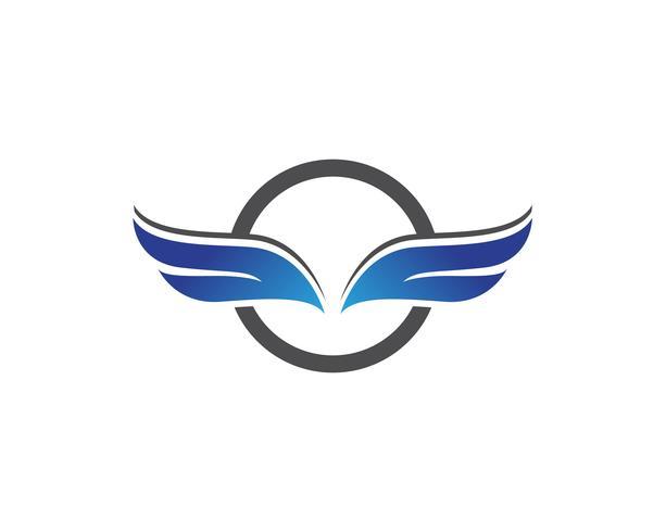 Falcon vinge logotyp och symbol vektor illustratör