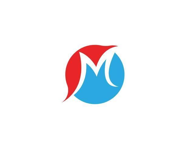 M Logo Business Template Vector ikon