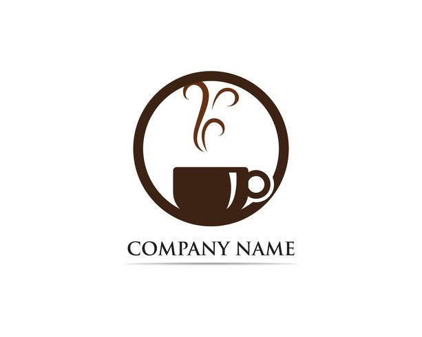 Kaffekopp Logo Mall vektorikon vektor