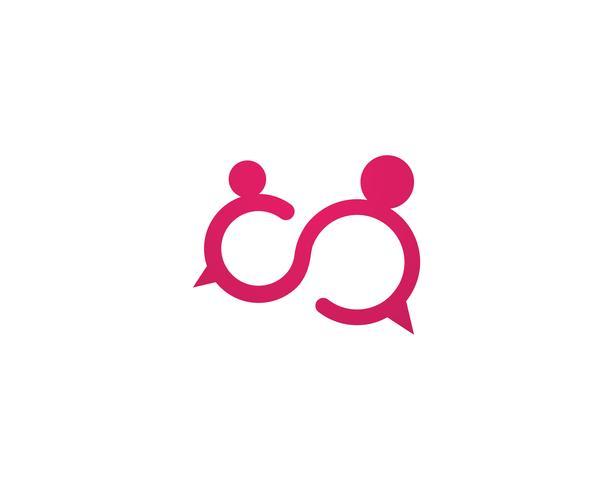 Bubble-Chat-Logo-Vektor vektor