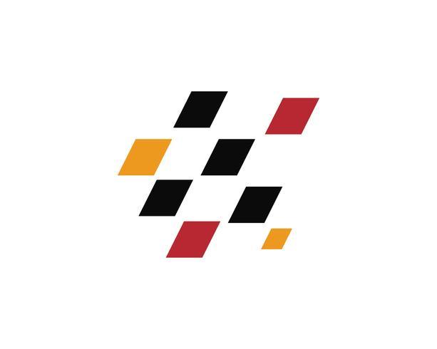 Race flaggikon, enkel design race flagglogo vektor