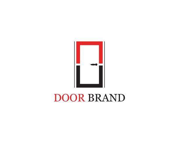 dörrlogo vektor mall illustration