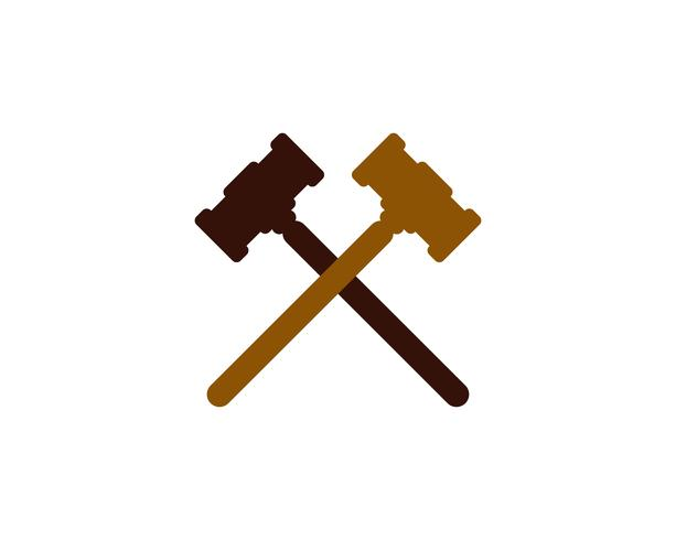 Hammer court Vector ikon design illustration