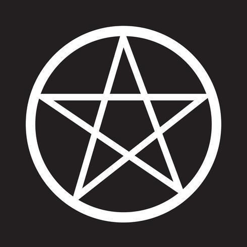 Pentagramm Symbol Symbol Zeichen vektor