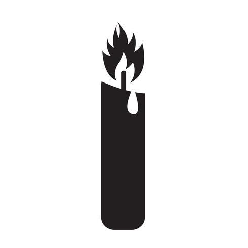 Stearinljus ikon symbol tecken vektor