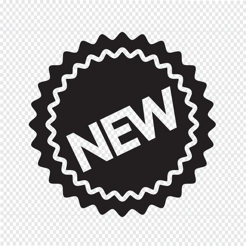 nytt ikon symbol tecken vektor