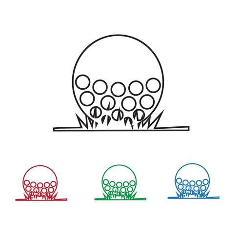 Golf Symbol Symbol Zeichen vektor