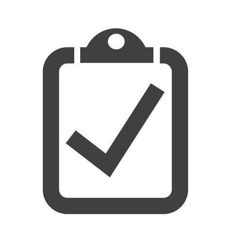 Checkliste Symbol Symbol Zeichen vektor