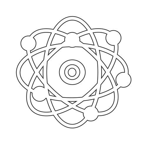 atom symbol symbol tecken vektor