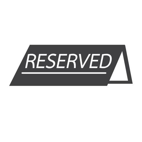 reservierte Symbol Symbol Zeichen vektor