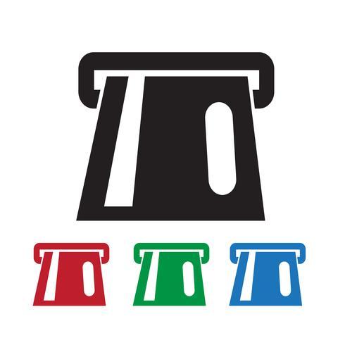 ATM-Symbol Symbol Zeichen vektor