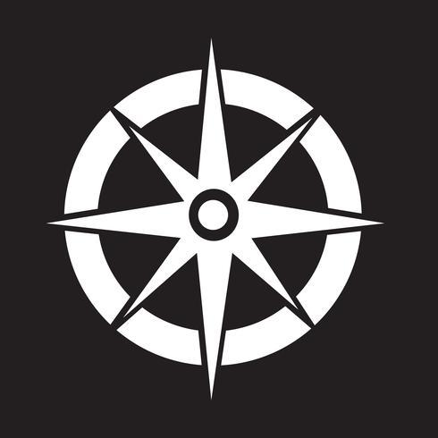 Kompass Symbol Symbol Zeichen vektor