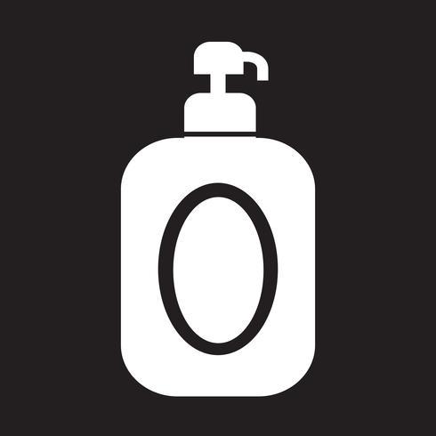 Shampoo-Symbol Symbol Zeichen vektor