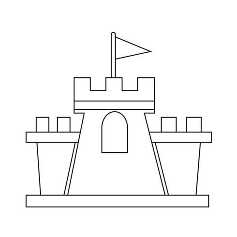 Schloss Symbol Symbol Zeichen vektor