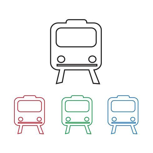 Train Icon Symbol Zeichen vektor