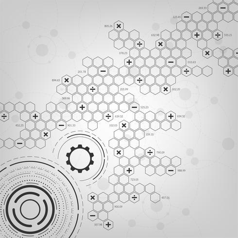 Bakgrund i begreppet teknik och vetenskap. vektor