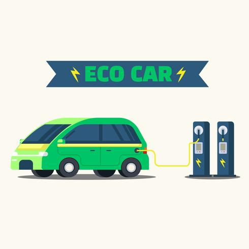 Eco bil laddning vektor