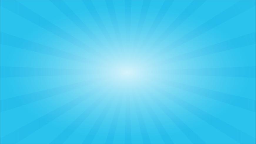 Abstrakter Hintergrund des blauen Himmels mit Starburst Effekt. und Sunburst Strahlen Element. vektor
