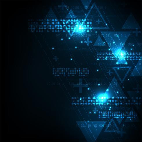 Vektor bakgrundsteknik i begreppet digital.