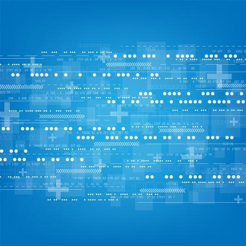Den digitala världen har en mängd information och komplexa system. vektor