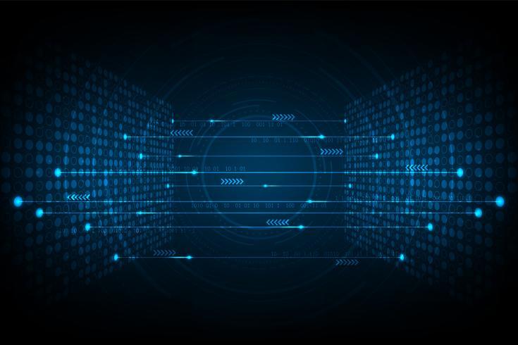 Sammankoppling av digitala system. vektor