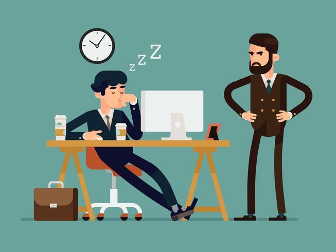 Situationen på arbetsplatsen vektor
