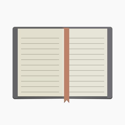 Vektor leer ausgekleidet Notebook