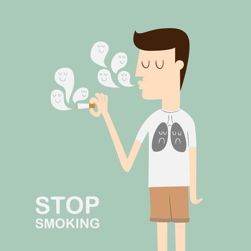 Sluta röka kampanjen. vektor