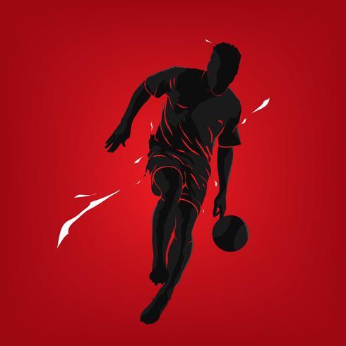 fotbollsspel silhuett stänk vektor