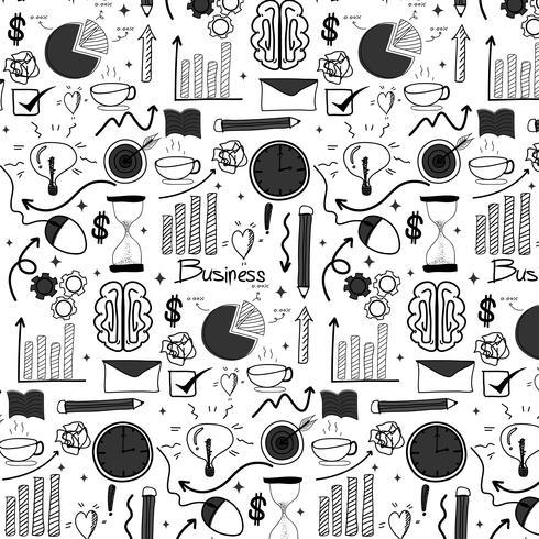 Muster mit Linie Hand gezeichneter Gekritzel-Geschäftshintergrund. Handgemachte Vektor-Illustration. vektor