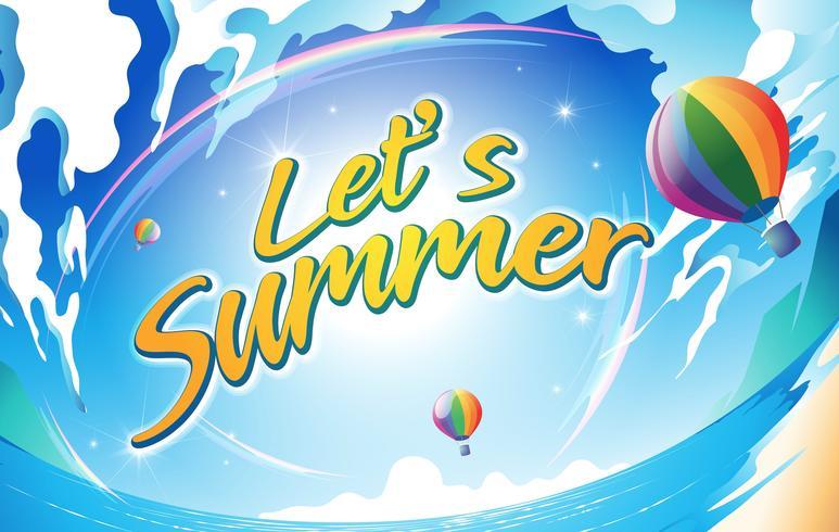 Låt oss sommar vektor
