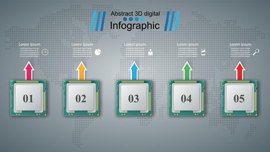 Datachip. Business infographic. vektor