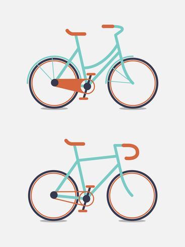 Cykel Gullig tecknad doodle illustration. vektor
