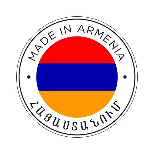 gjord i armeniens flaggikon. vektor