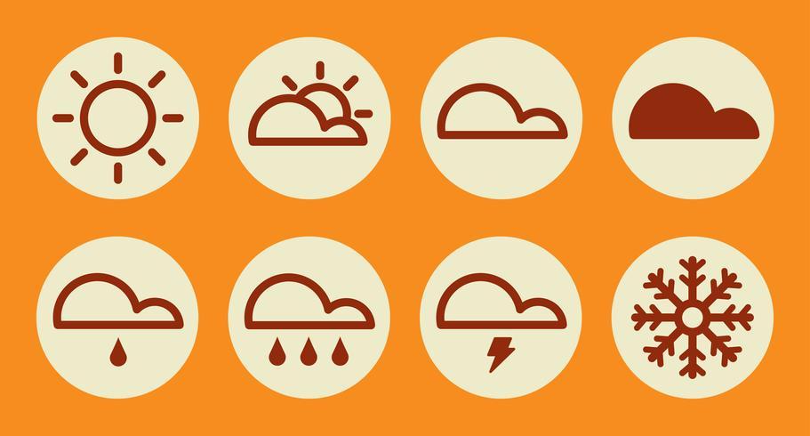 Väder ikoner. vektor illustration
