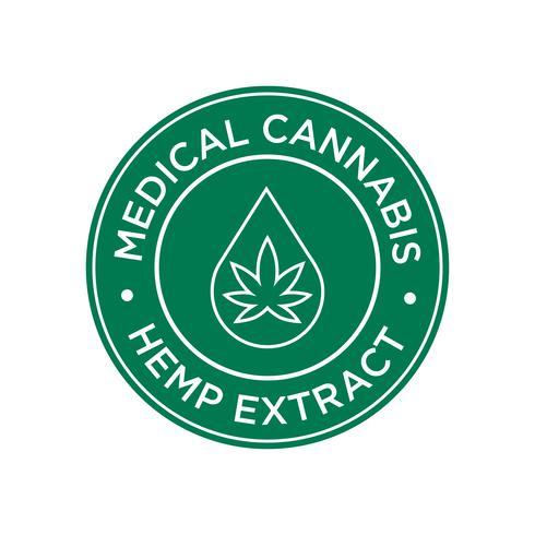 Hamp Utdrag ikon. Medicinska Cannabis. vektor