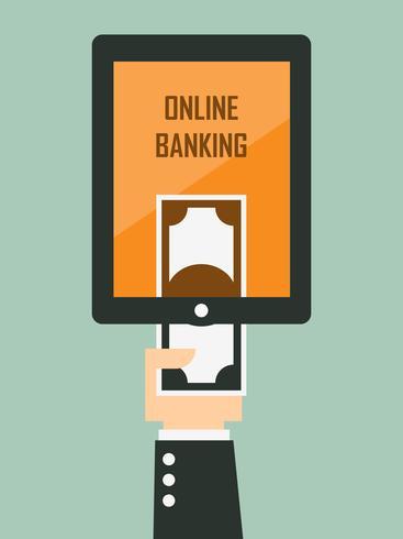 Mobile Banking. Vektor-illustration vektor