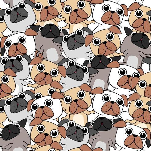 Nahtloses Muster vieler Hunde. vektor