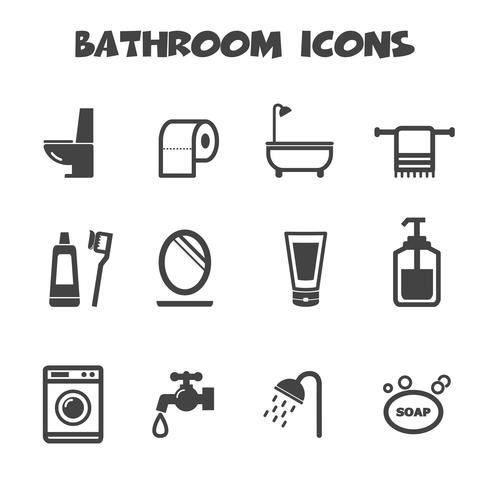 badrum ikoner symbol vektor