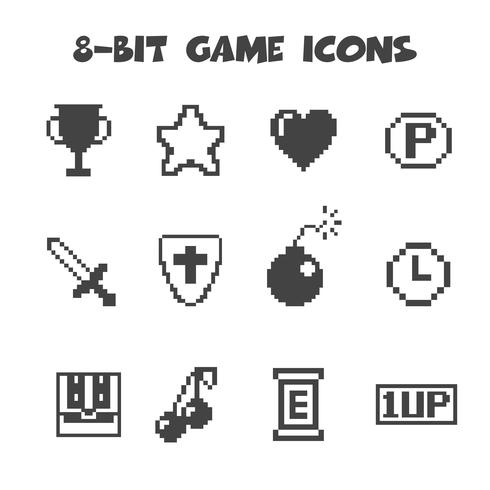 8-Bit-Spielsymbole vektor