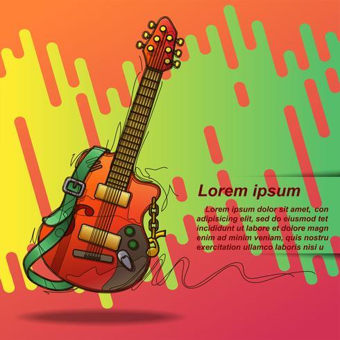 Musikfestival i tecknadstil. vektor