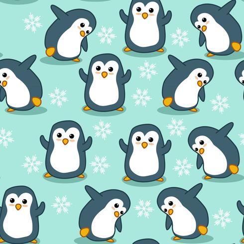 Seamless pingvinmönster. vektor