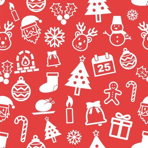 Weihnachten nahtlose Muster vektor