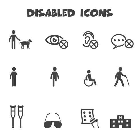 ikon för funktionshindrade ikoner vektor
