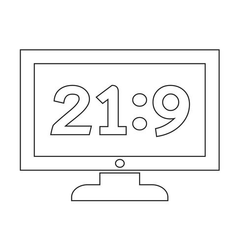 TV Icon Design Illustration vektor